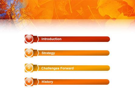 Autumn Woods PowerPoint Template Slide 3