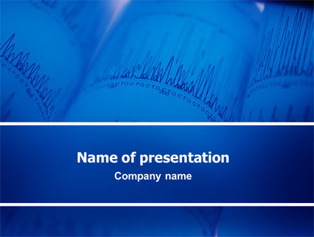 Medical: ECG in Blue PowerPoint Template #02617