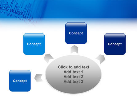 ECG in Blue PowerPoint Template Slide 7