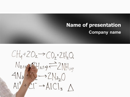 Education & Training: Chemical Formulas PowerPoint Template #02619