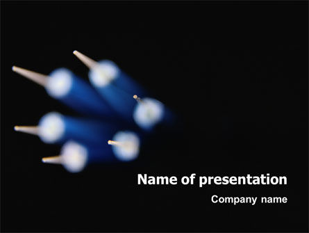 Blue Cable PowerPoint Template, 02620, Technology and Science — PoweredTemplate.com