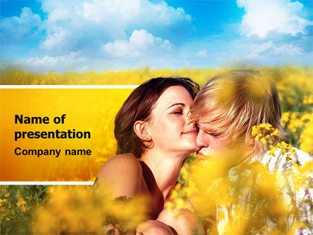 Summer of Love PowerPoint Template, 02621, Consulting — PoweredTemplate.com