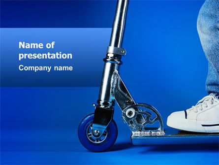 Cars and Transportation: Kick Scooter PowerPoint Template #02623