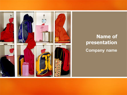 School Cubbyholes PowerPoint Template