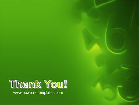 Green Numbers PowerPoint Template Slide 20