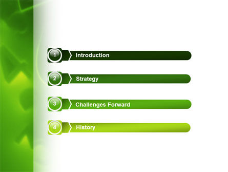 Green Numbers PowerPoint Template Slide 3