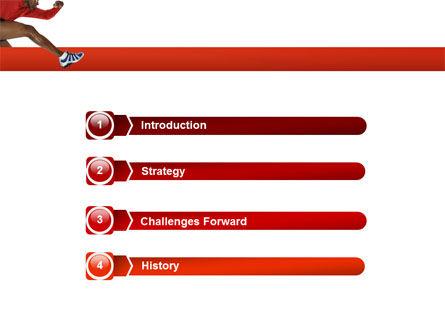 Breaking Barriers PowerPoint Template, Slide 3, 02629, Sports — PoweredTemplate.com