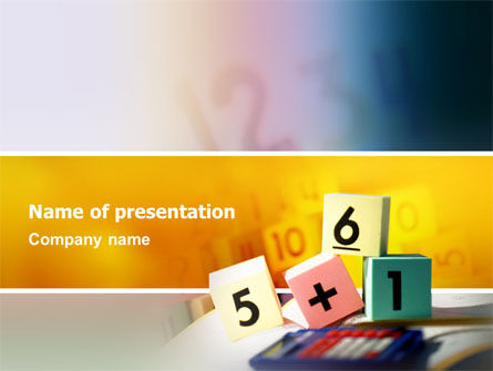 Arithmetic Cubes PowerPoint Template
