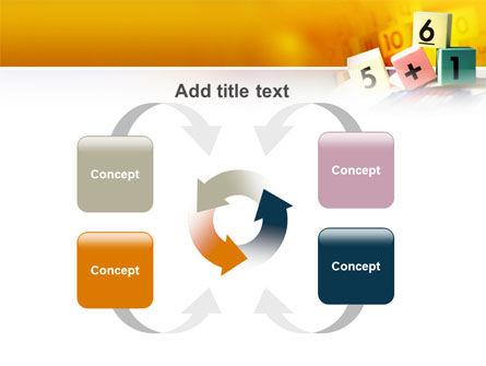 Arithmetic Cubes PowerPoint Template Slide 6