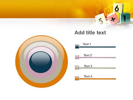 Arithmetic Cubes PowerPoint Template Slide 9