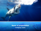 Animals and Pets: Shark Hanting PowerPoint Template #02634