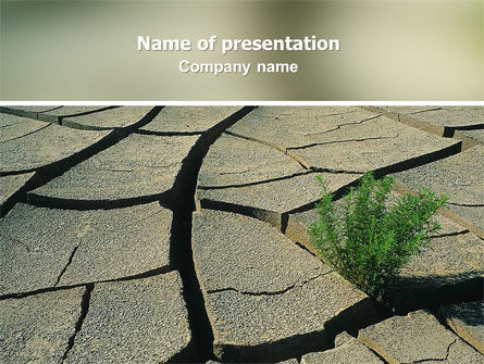 Drought PowerPoint Template, 02635, Nature & Environment — PoweredTemplate.com