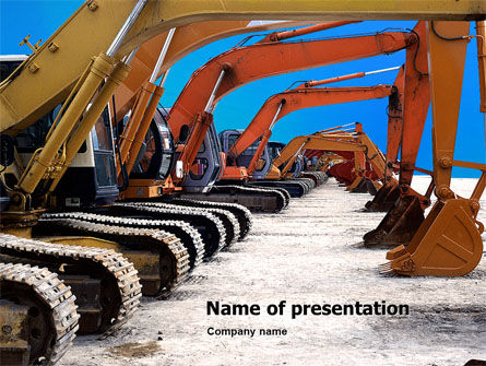 Utilities/Industrial: Heavy Construction Equipment PowerPoint Template #02636