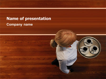 Careers/Industry: Waitress PowerPoint Template #02639