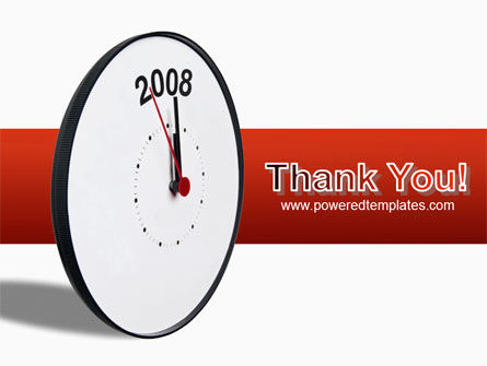Year 2008 with Clockface PowerPoint Template Slide 20