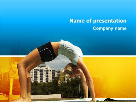 Gymnastics PowerPoint Template, 02641, Sports — PoweredTemplate.com