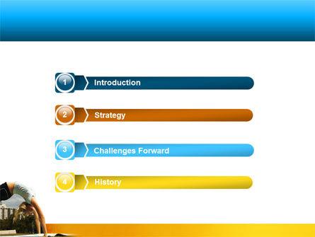 Gymnastics PowerPoint Template, Slide 3, 02641, Sports — PoweredTemplate.com