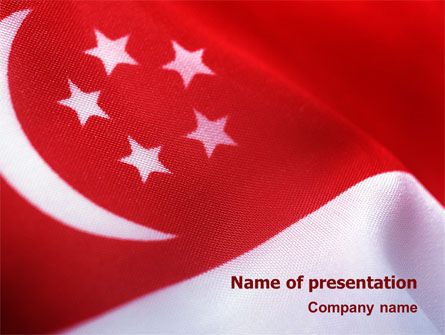 Flag of Singapore PowerPoint Template