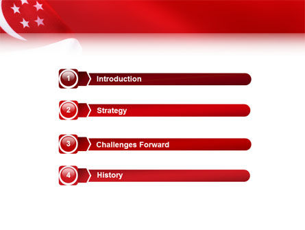 Flag of Singapore PowerPoint Template Slide 3