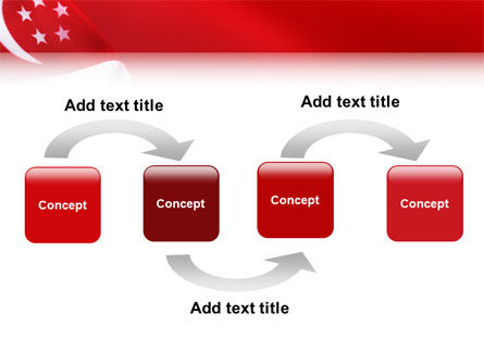 Flag of Singapore PowerPoint Template Slide 4