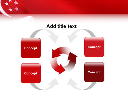 Flag of Singapore PowerPoint Template Slide 6