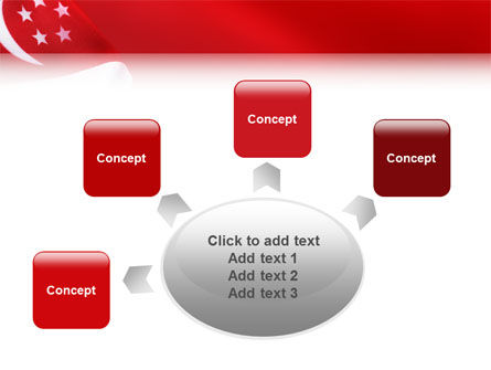 Flag of Singapore PowerPoint Template Slide 7