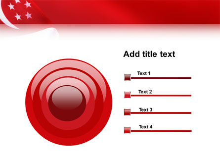 Flag of Singapore PowerPoint Template Slide 9
