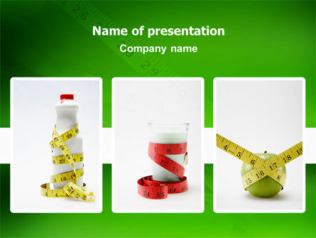 Medical: Diet PowerPoint Template #02653