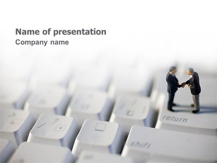 Computer Business PowerPoint Template, 02654, Technology and Science — PoweredTemplate.com