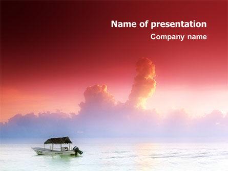 Nature & Environment: Sonnenaufgang PowerPoint Vorlage #02655