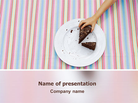 Piece of Cake PowerPoint Template, 02656, Food & Beverage — PoweredTemplate.com