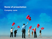 Business Concepts: Celebration Balloons PowerPoint Template #02657