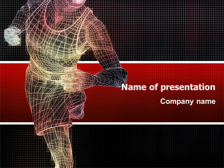 Sports: Running Man PowerPoint Template #02660