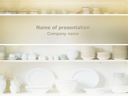 Abstract/Textures: Kitchen PowerPoint Template #02661