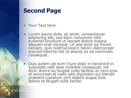 Lotus Temple PowerPoint Template, Slide 2, 02662, Flags/International — PoweredTemplate.com