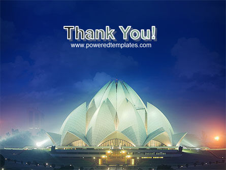 Lotus Temple PowerPoint Template Slide 20