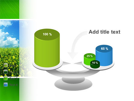 Green Field In A Sunny Day PowerPoint Template Slide 10