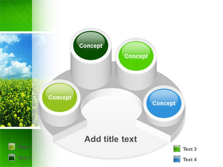 Green Field In A Sunny Day PowerPoint Template Slide 12