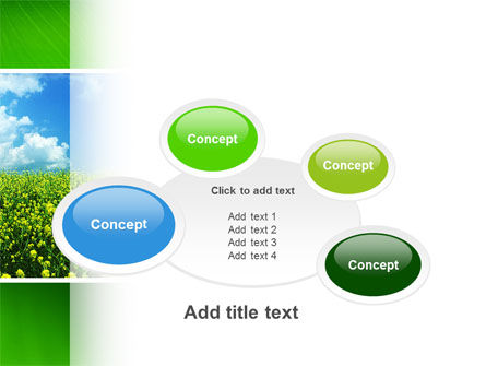 Green Field In A Sunny Day PowerPoint Template Slide 16