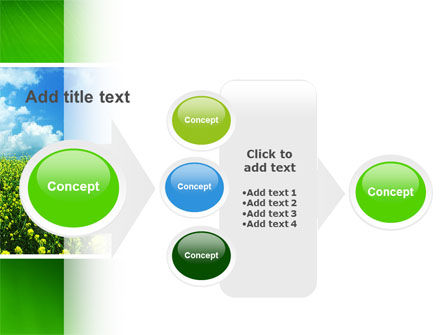 Green Field In A Sunny Day PowerPoint Template Slide 17