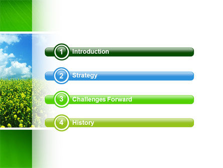 Green Field In A Sunny Day PowerPoint Template, Slide 3, 02663, Nature & Environment — PoweredTemplate.com