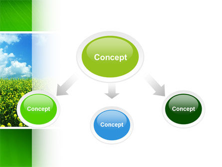 Green Field In A Sunny Day PowerPoint Template Slide 4