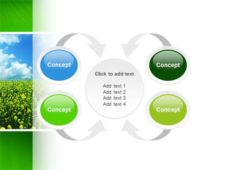 Green Field In A Sunny Day PowerPoint Template Slide 6