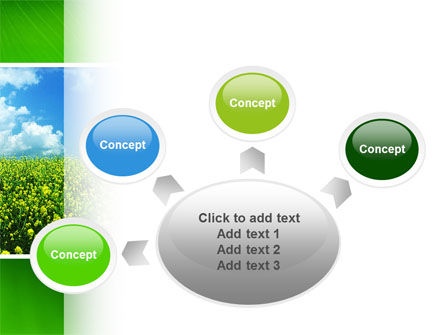 Green Field In A Sunny Day PowerPoint Template Slide 7