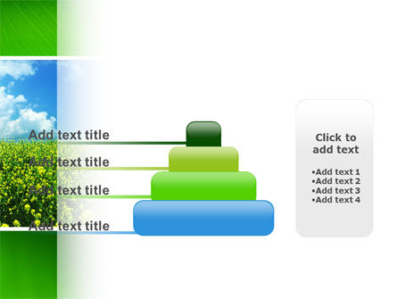 Green Field In A Sunny Day PowerPoint Template Slide 8