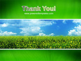 Green Field In A Sunny Day PowerPoint Template#20