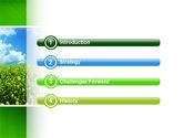 Green Field In A Sunny Day PowerPoint Template#3