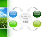 Green Field In A Sunny Day PowerPoint Template#6