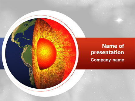 Earth Core PowerPoint Template, 02665, Technology and Science — PoweredTemplate.com