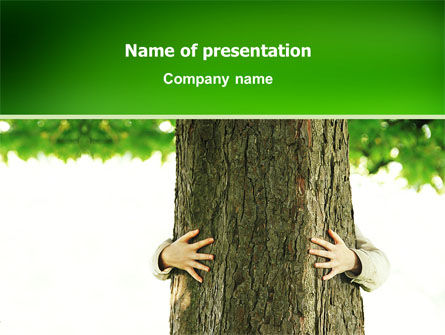 Tree PowerPoint Template, 02666, Nature & Environment — PoweredTemplate.com
